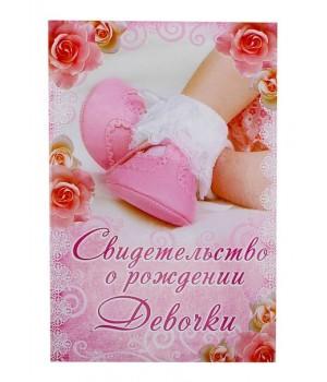 Папка свидетельство о рождении. Для девочки
