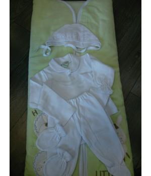 Конверт-одеяло с комплектом на выписку. Такро. Трансформер.