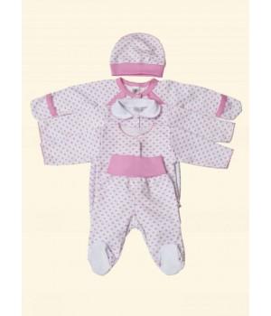 Подарочный н-р для новорожденной девочки. Фламинго.